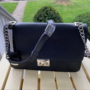 Henri Bendel Black/Silver Waldorf Bag